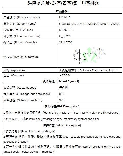 5-降w88官网烯-2-基(乙基)氯二甲基硅烷